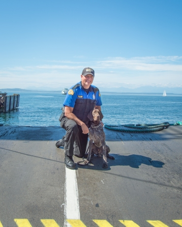 Trooper Walter Heilig and K9 Rex