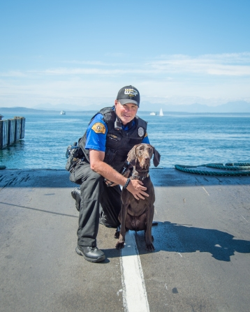 Trooper Richard Howson and K9 Vilma