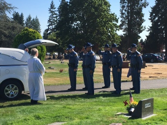 Troopers at grave site