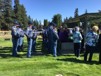 WSP Troopers carry casket to gravesite