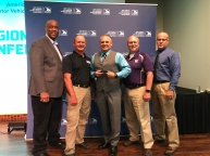 "WSP Sergeant Darrin Foster accepting national award for ""Excellence in Government Partnerships"